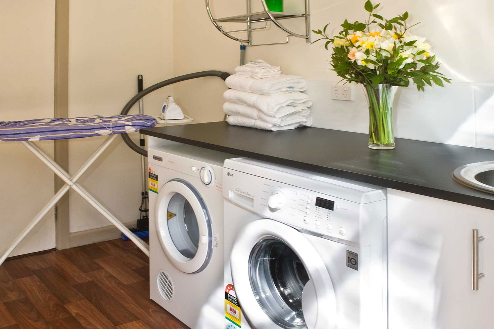 New Laundry Facilities in each Cottage